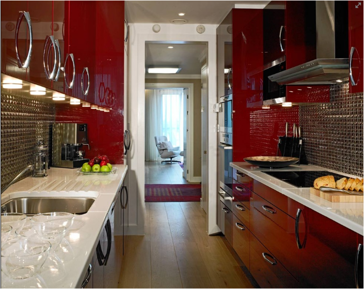 Red Kitchen Ideas Inspiration With Red Kitchen Color Schemes Photo