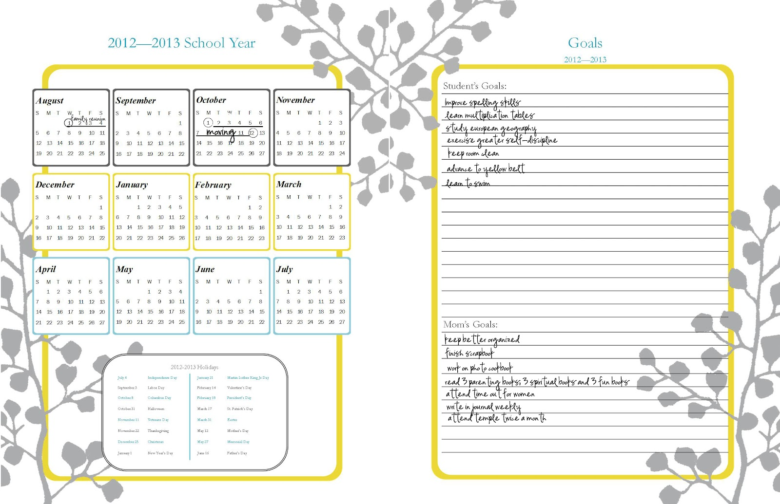 Printable 2013 Daily Planner Template   Calendar Template 2016