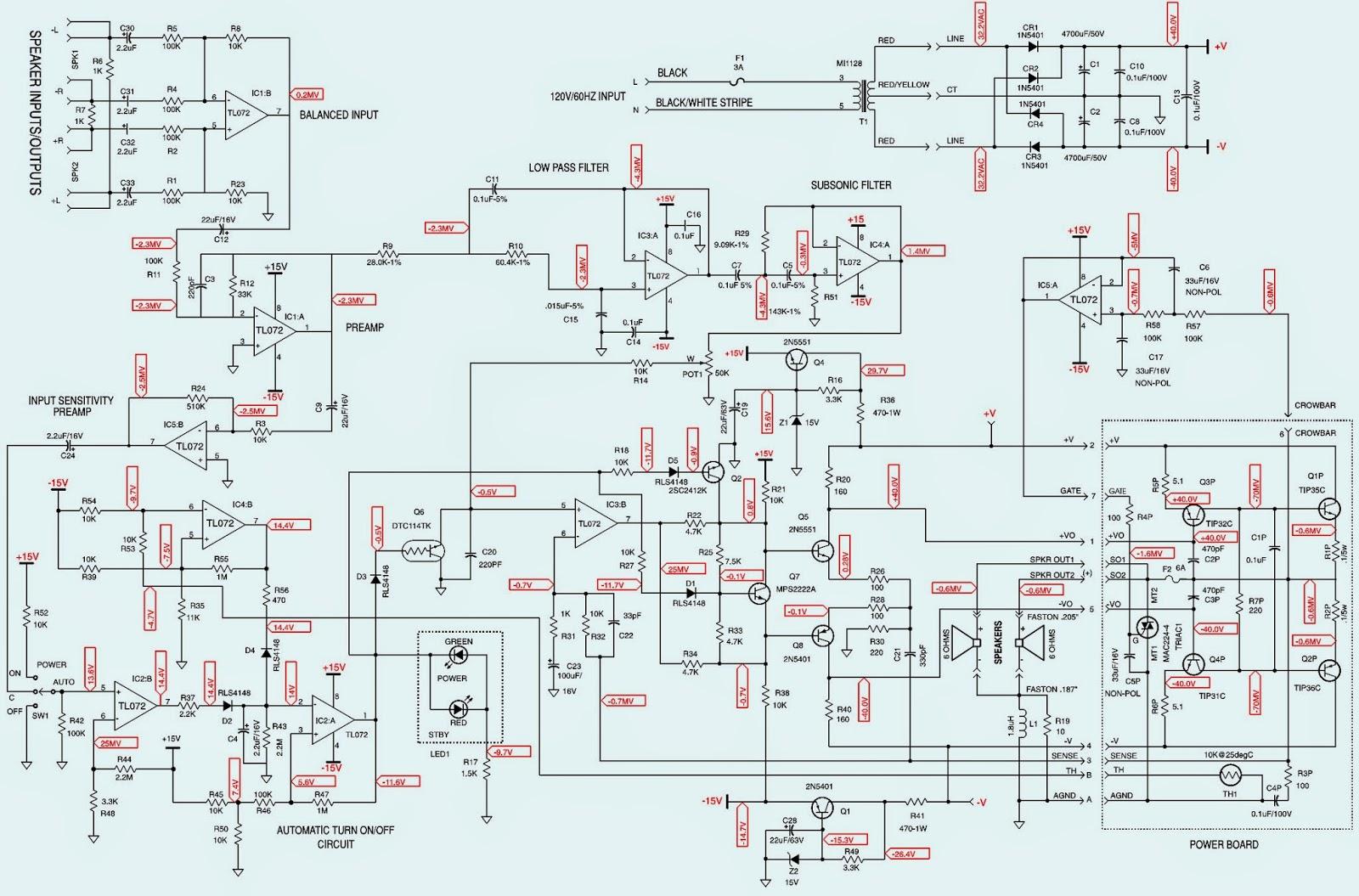 JBL BASS15 JBL BASS16 SCHEMATIC DIAGRAM Powered SubWoofer