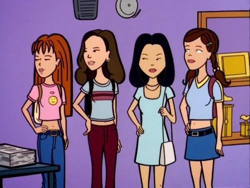 Queen et ses copines du club de mode dans Daria, série télévisée