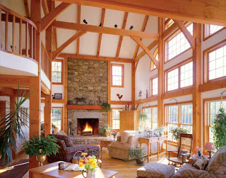open concept timber frame
