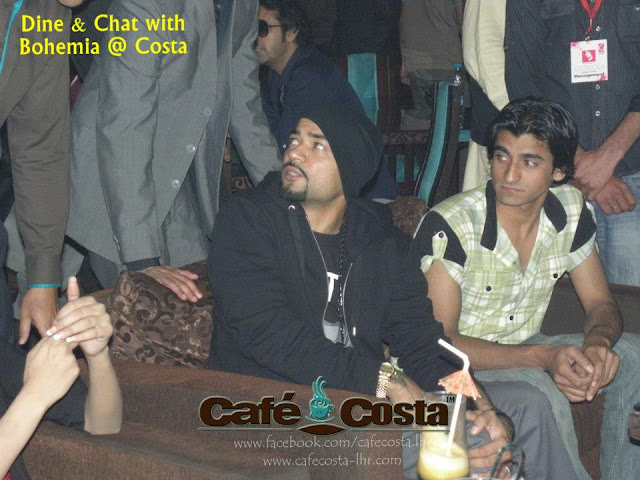 Dine & Chat with BOHEMIA the punjabi rapper at Cafe Costa in Lahore. Images Download