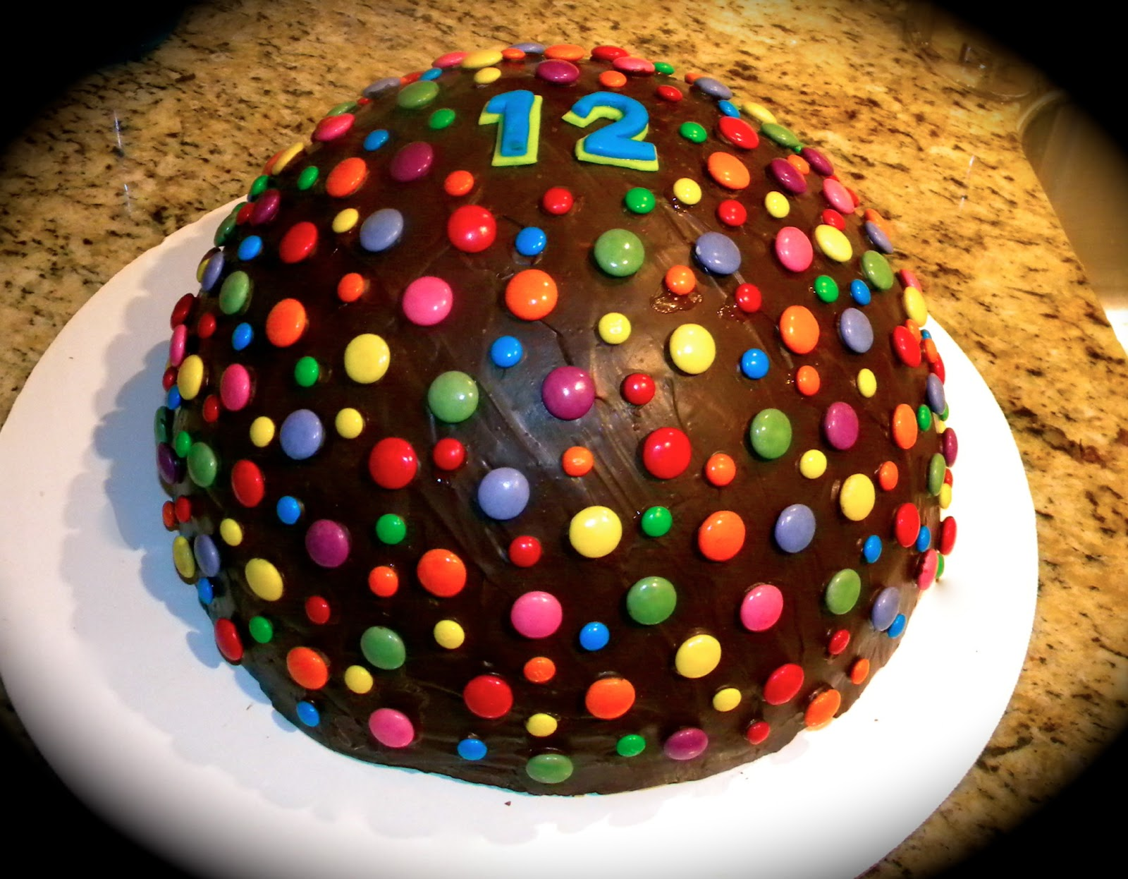Birthday Cake With Chocolate Dome