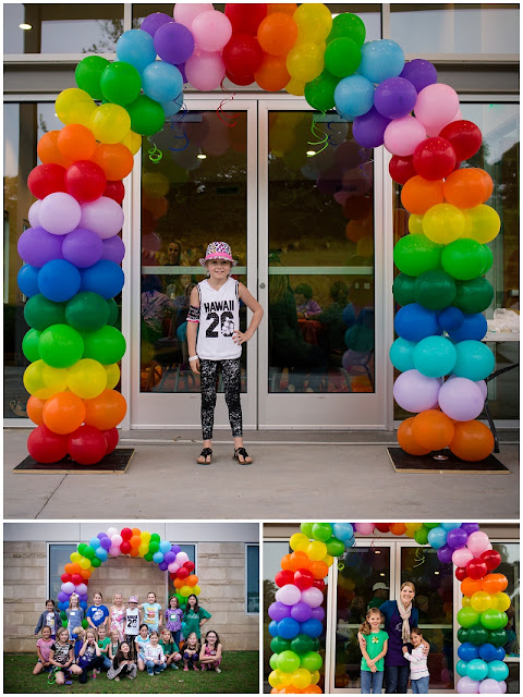 rainbow party, sadies party, flower mound photographer, rock pointe church, craft party, party photographer,