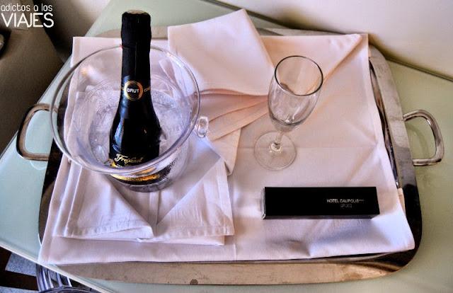 Detalle de bienvenida del Hotel Calípolis Sitges