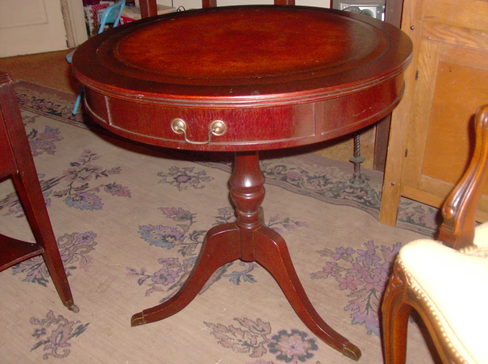 Queen anne chair history - Gina S Junk Blog In Columbus Georgia Wood With History Mahogany Antique Mahogany Side Tables Drum Table Coffee Table Queen Anne Chair Gina S Junk
