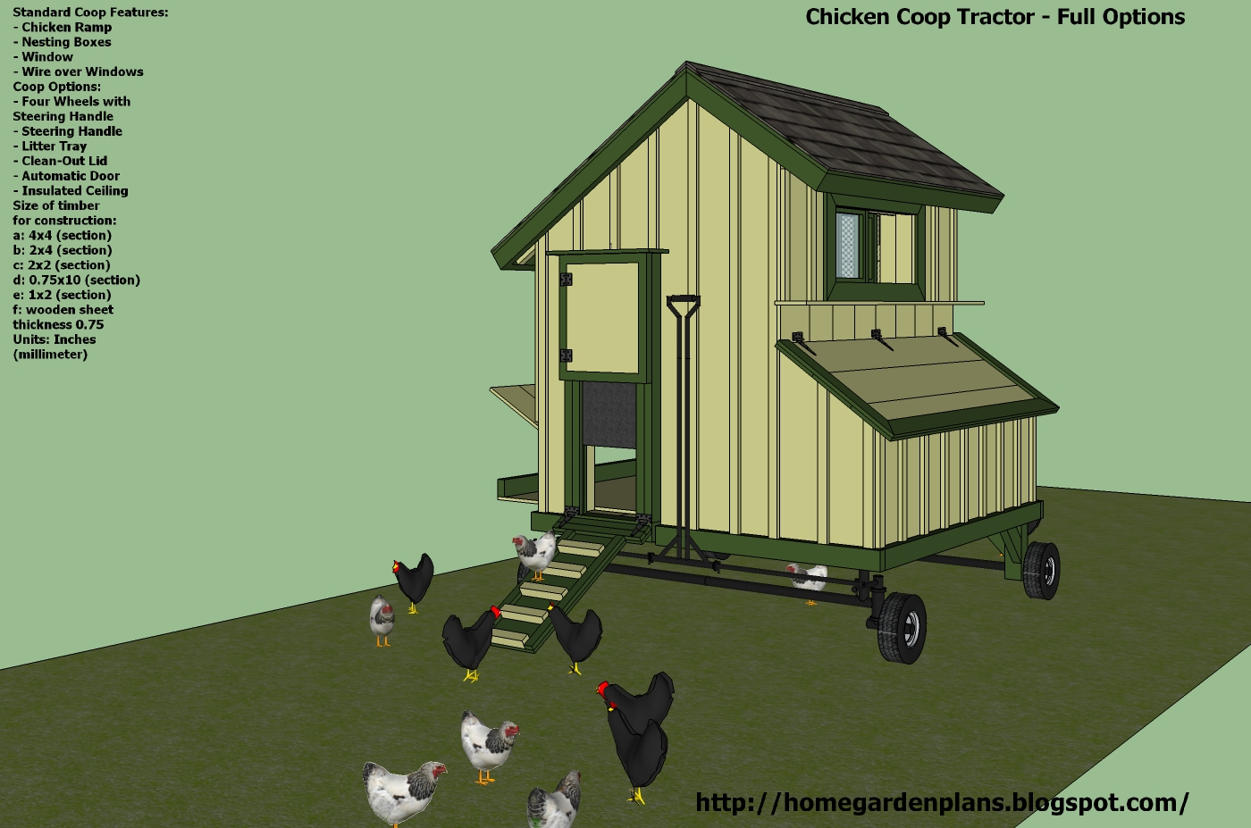 Billy easy wooden tractor plans wood plans us uk ca for Chicken tractor building plans