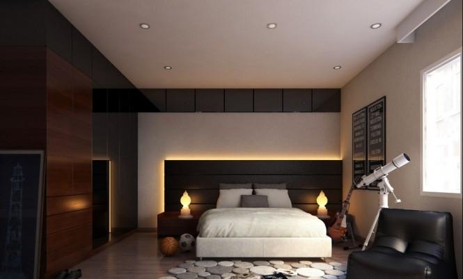 Dormitorios en marr n y beige dormitorios con estilo for Dormitorio oscuro