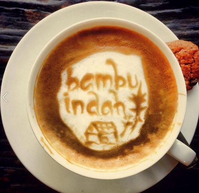 כוס קפה עם ציור BAMBU INDAH
