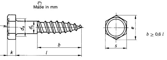 DIN 571 Шуруп-глухарь сантехнический