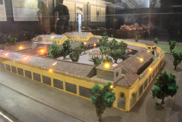 The 3D model of the Maison Centre (Hoa Lu Prison) during the early years in Hanoi, Vietnam
