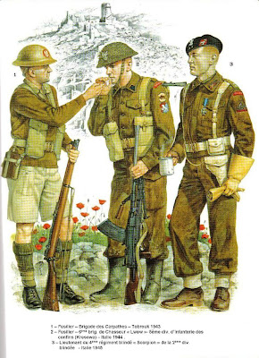 An Illustration of soldiers of 2nd Polish Corps Monte Cassino Italy 1944
