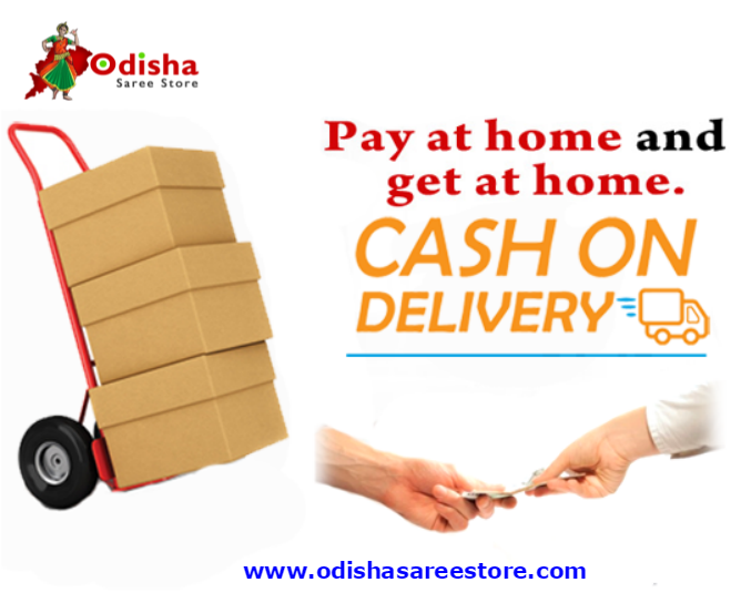 Enjoy cash on delivery option of Odisha Saree Store