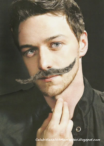 Swoonworthy James McAvoy with a Mustache