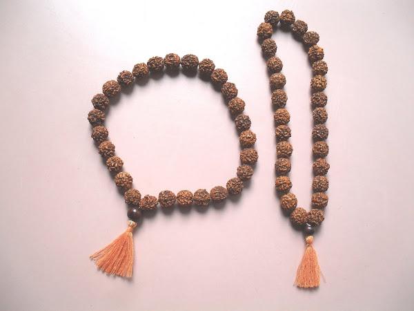 Japa Mala de 27 cuentas de Rudraksha
