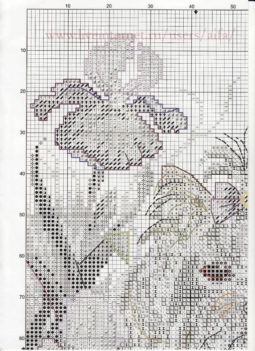 Вышивка крестом схемы йоркширский терьер 33