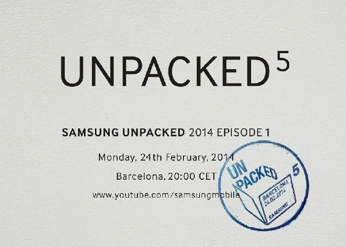 Samsung presentará el nuevo Galaxy S5 el 24 de febrero en su evento Unpacked