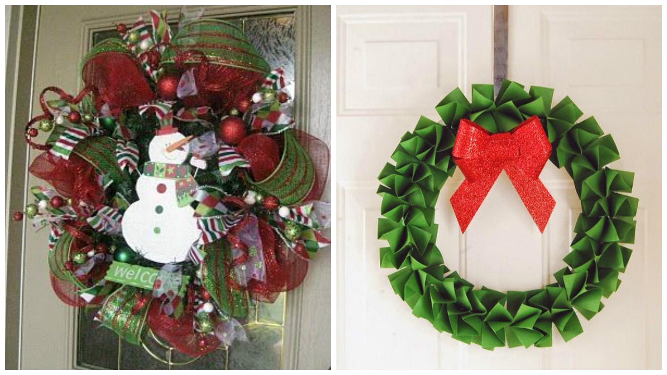 Haz una corona de navidad con papel lodijoella - Coronas navidenas para puertas ...