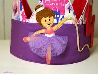 detall ballarina corona d'aniversari Enfilades