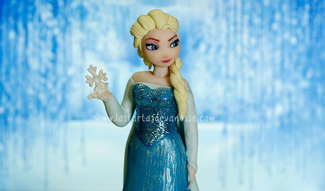 Reina Elsa de fondant ( frozen)