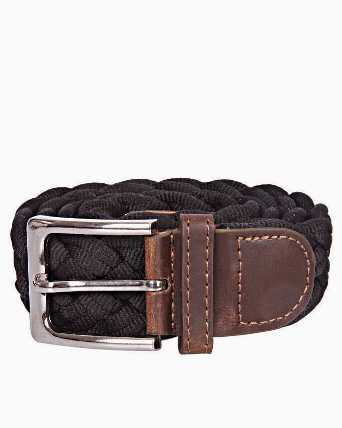 designer hermes belts vosf  CZ Woven Belt- Black