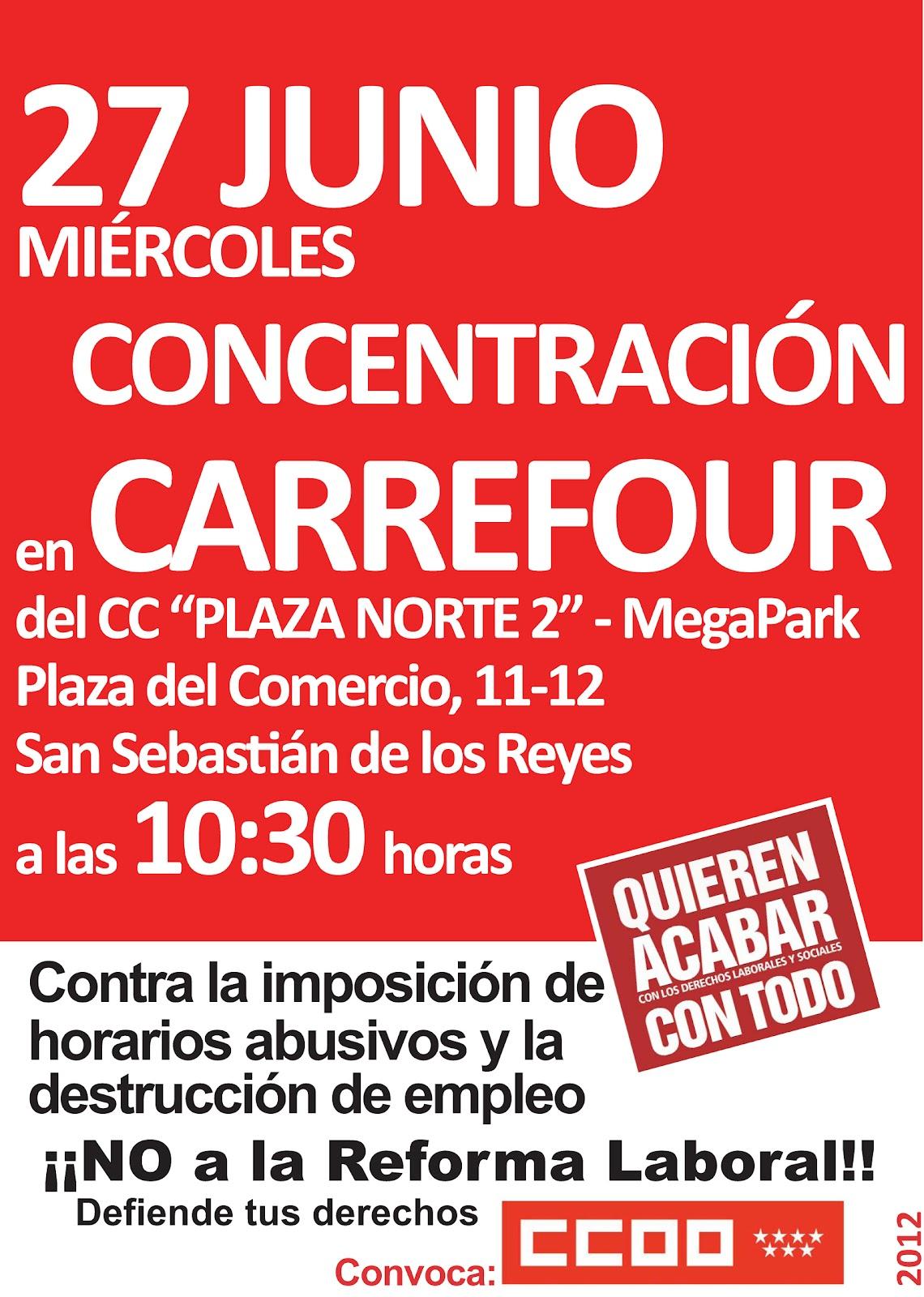 Sec sindical estatal ccoo carrefour junio 2012 - Cc plaza norte majadahonda ...