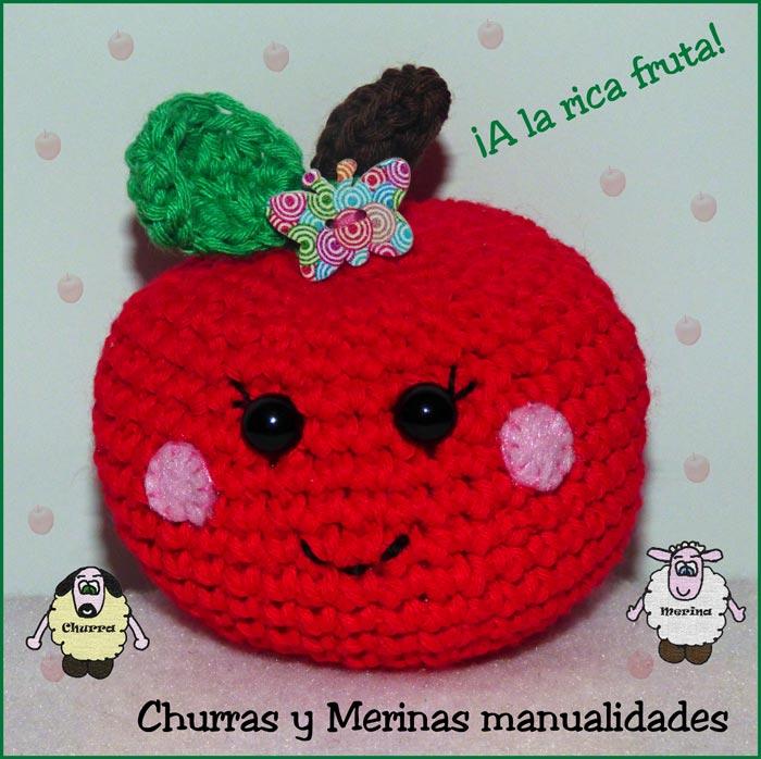 Amigurumi Manzana Patron : Churras y Merinas Manualidades: Manzana y Pera amigurumi ...