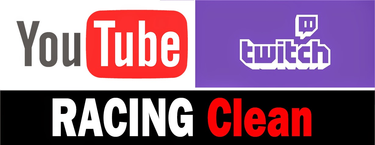 Racing Clean is now on YouTube and Twitch.tv