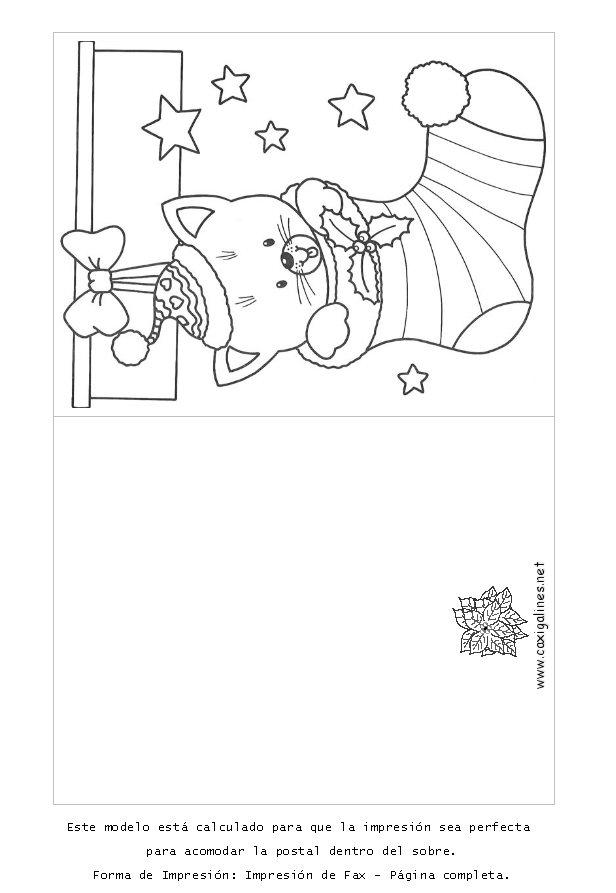 Recursos para educaci n infantil tarjetas navide as for Dibujos para tarjetas navidenas