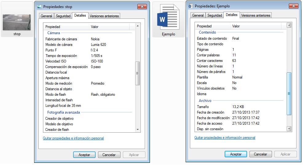 Diferencias entre documento de Texto e imagen