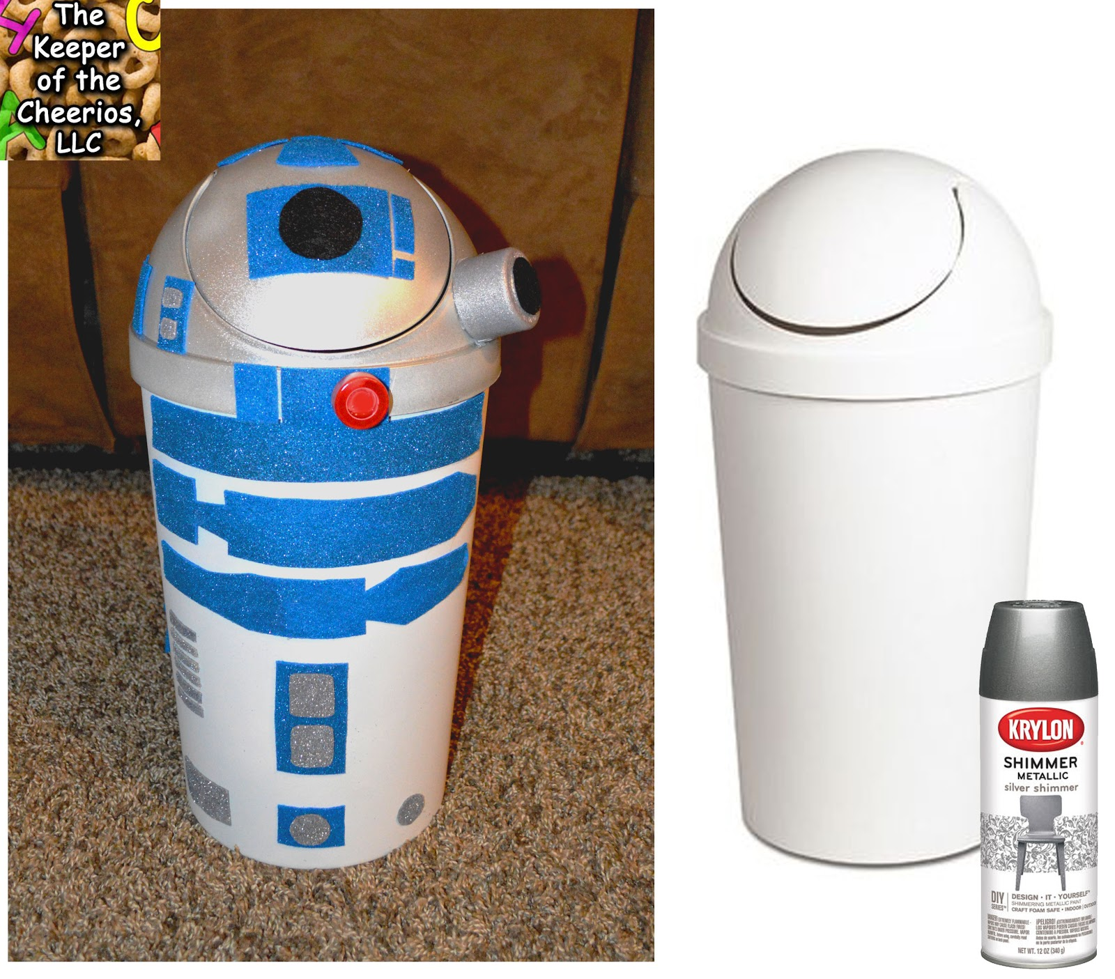 R2 D2 VALENTINES DAY BOX Or TRASH CAN