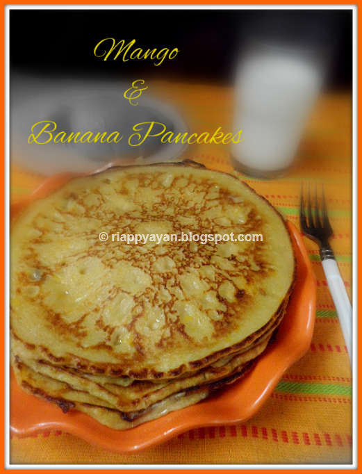 Mango & Banana Pancake ~ Kid's favorite breakfast dish | Recipe ...