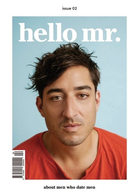 Ed Droste on the cover of Hello Mr. Magazine