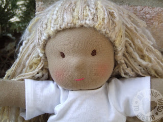 Homemade Waldorf Baby Doll by Little J Bird