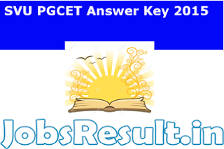 SVU PGCET Answer Key 2015