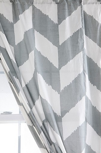 Curtains Ideas chevron curtains ikea : TICKET TUESDAY: Chevron Stamped Curtains
