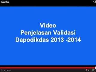 PENJELASAN VALIDASI DAPODIKDAS 2013