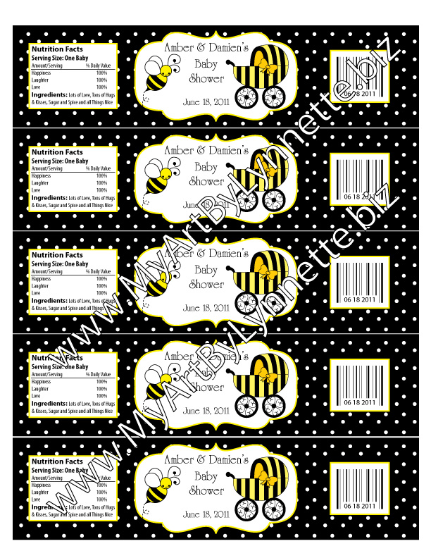Cupcake Wrappers Book Marks And Thank You Cards Order Your Bee Baby Shower Party Items Here Myartbylynnettebiz