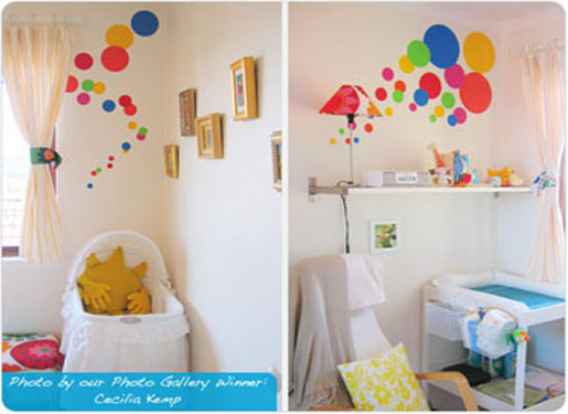 Balloon Concept For A Childu0027s Bedroom Wall