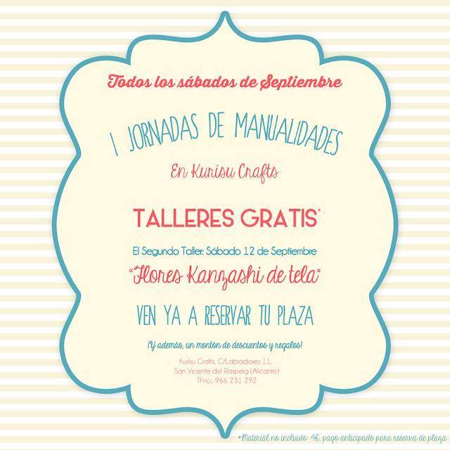 Taller gratis de manualidades en Kurisu Crafts
