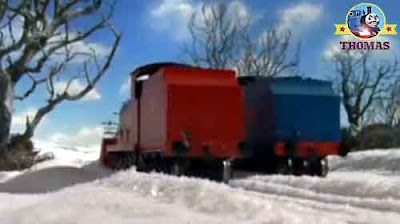 Keeping up with James tank engine Edward the blue engine Thomas the train and friends in the snow
