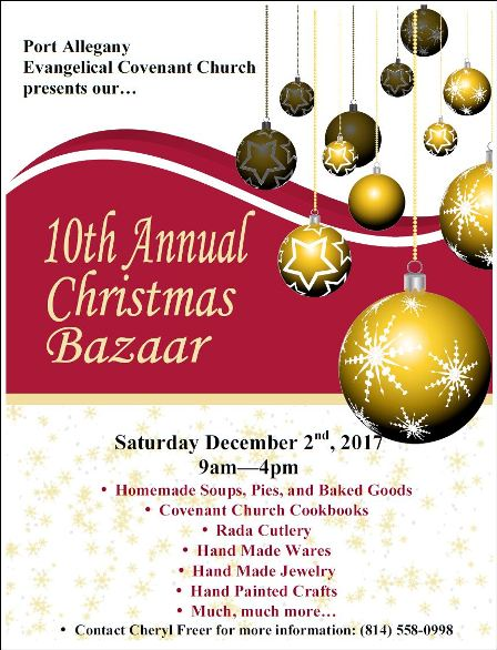 12-2 10th Annual Christmas Bazaar