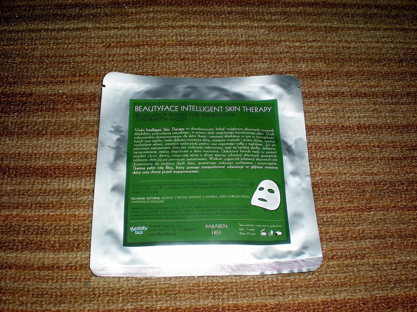 Maska z ekstraktem z bazylii od BeautyFace