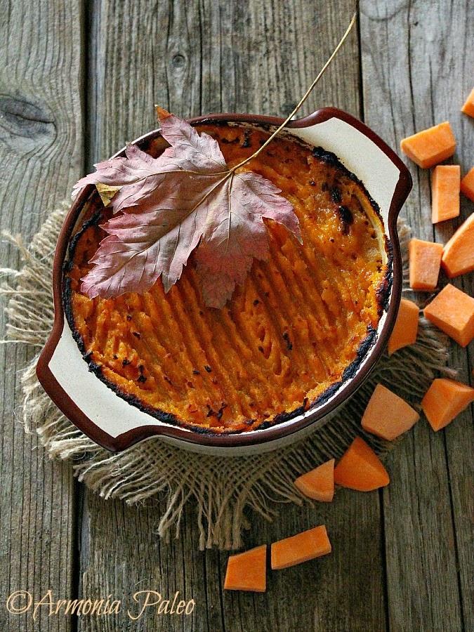 Pasticcio di Carne con Patate Dolci alla Canadese di Armonia Paleo