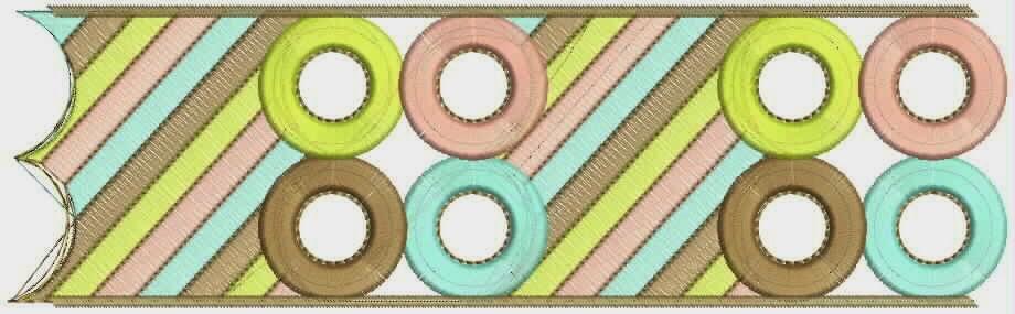 geometriese veelkleurige styl Kant