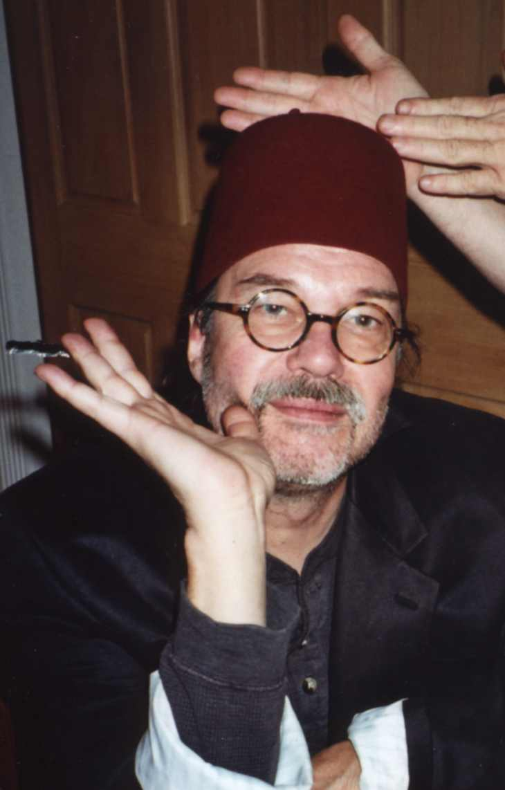 composer Arthur Jarvinen wearing a fez - New Year's 2004 - photo courtesy of Daniel Rothman