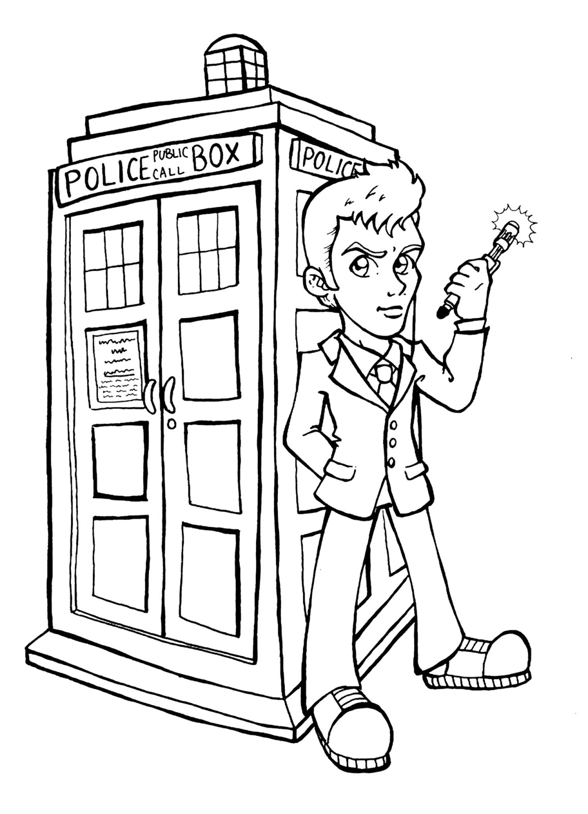 tardis coloring pages - photo#15