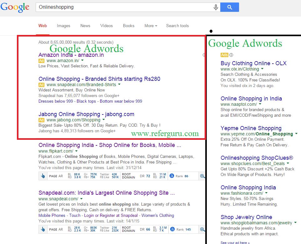 Add URL to Google