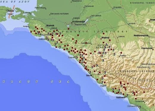 Los misteriosos megalitos rusos  Map_1