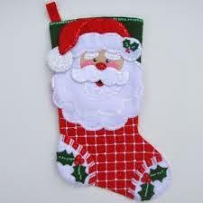 botas de navidad con santa